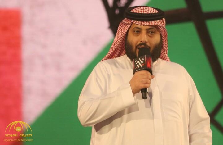 تركي آل الشيخ يوجه كلمة للجماهير خلال افتتاحه مسابقة رويال رامبل للمصارعة الحرة