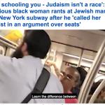 بعدما وصفها بالعنصرية.. شاهد امرأة سوداء تشتم يهودي داخل مترو أنفاق مزدحم في نيويورك
