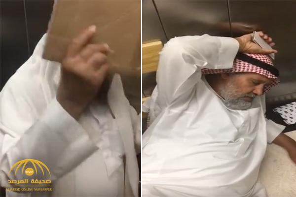 شاهد بالفيديو لحظة احتجاز عدد من المراجعين 3 ساعات داخل مصعد مستشفى بالمدينة