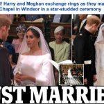 شاهد ..  زفاف الأمير هاري وميغان ماركل  – فيديو وصور