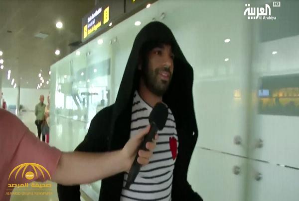 """شاهد: ردة فعل """"محمد صلاح"""" على سؤال مراسل حول تعمد راموس إصابته؟"""
