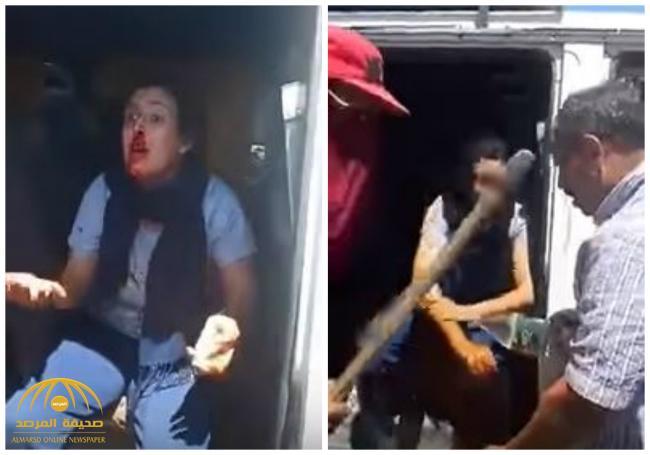 بالفيديو : ملثمون يعتدون على طالبة مغربية وسائق بدعوى الاختلاء في رمضان