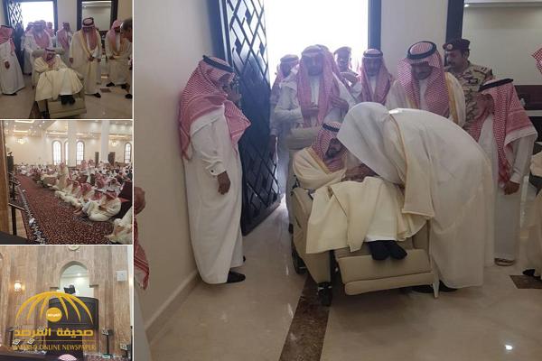 بالصور.. الأمير بندر بن عبدالعزيز يفتتح مسجد والدته في حي الندى بالرياض