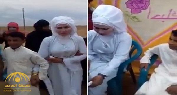 بالفيديو .. فتاة أردنية تتزوج من طفل في حفل زفاف غريب !