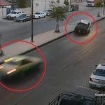 شاهد .. قائد دورية شرطة يفقد السيطرة عليها ويتسبب في حادث شنيع بالأردن
