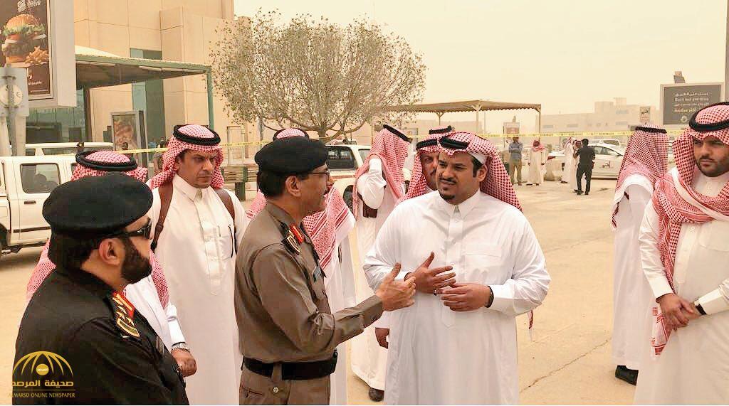 نائب أمير الرياض يتفقد المواقع التي سقطت بها شظايا الصواريخ الباليستية
