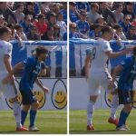 """شاهد .. اللاعب """"إبراهيموفيتش"""" يصفع لاعب كف عنيف أثناء المباراة !"""