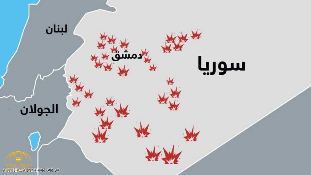 تعرف على المواقع التي تم استهدافها في ليلة القصف الإسرائيلي على سوريا