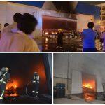 """بالفيديو و الصور : احتراق محل """"إكسترا"""" في شارع التحلية بجدة"""