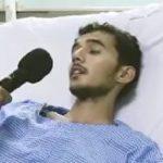 بينما تغالبه دموعه .. بالفيديو : جندي مصاب بالحد الجنوبي يوجه رسالة لزملائه وللقيادة