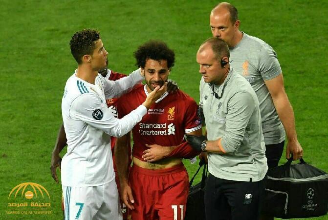 """شاهد.. لحظة بكاء """"محمد صلاح"""" عقب تعرضه لإصابة قوية في مباراةليفربولوريال مدريد"""