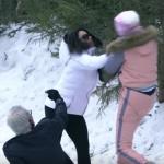"""بالفيديو.. """"مشاجرة نسائية"""" بين ديانا حداد ومساعدة رامز جلال تلغي المقلب"""