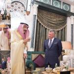 خادم الحرمين يستقبل ملك الأردن وأمير الكويت ونائب رئيس الإمارات لمناقشة دعم الأردن