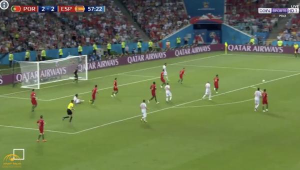 بالفيديو .. البرتغال يتعادل مع إسبانيا بثلاثة أهداف لكل منهما