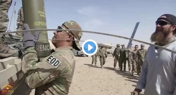 شاهد .. التخلص من أسلحة أمريكية وتدميرها في صحراء الكويت !