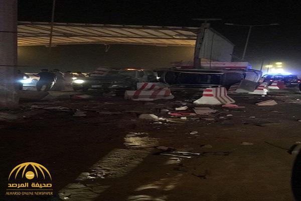 تفاصيل جديدة للحادث المروع الذي وقع بنقطة تفتيش القنفذة- صور