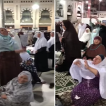 شاهد.. ردة فعل المعتمرات المصريات بعد ختمة السديس في الحرم