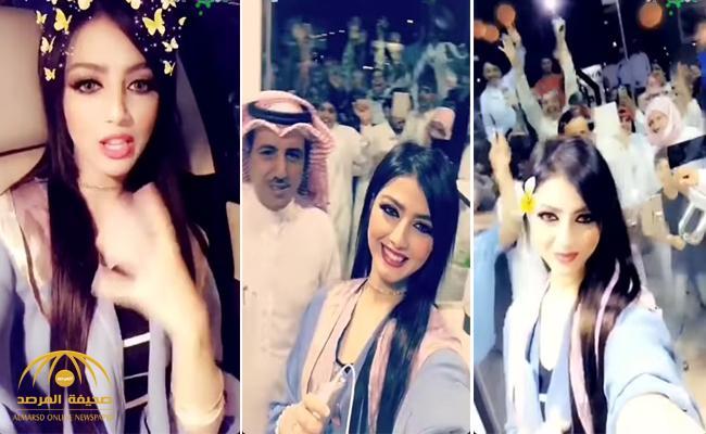 """شاهد .. تزاحم وتدافع على متجر في حي النظيم بسبب """"نرمين محسن"""" !"""