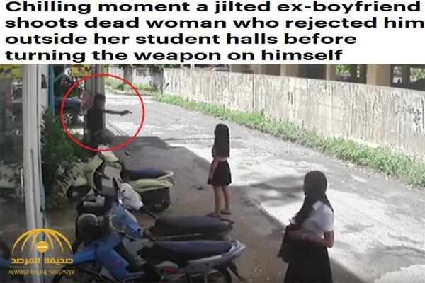 شاهد .. تايلاندي يقتل حبيبته السابقة ثمّ يحتضنها ويطلق النّار على نفسه ! – فيديو وصور