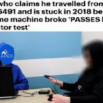 رجل يدعي أنه سافر من عام 6491 وتعطلت به آلة الزمن في 2018 .. وجهاز كشف الكذب يظهر نتيجة صادمة .. وهذا ما قاله عن زمانه