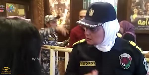 شاهد .. الشرطة النسائية المصرية عند مداخل دور السينما في القاهرة لمنع التحرش فى أول أيام العيد