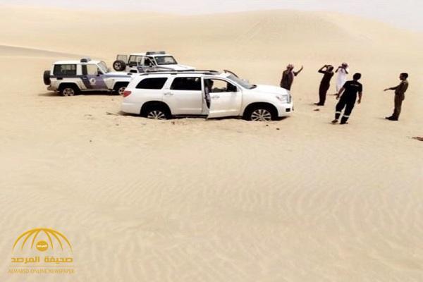 العثور على مركبة مواطن وبداخلها عائلته في صحراء النفود!