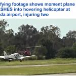 شاهد بالفيديو  لحظة اصطدام طائرتين في مطار بفلوريدا !