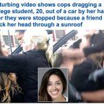 بسبب هذه التهمة .. شاهد كيف تعاملت الشرطة الأمريكية مع طالبة عشرينية بجامعة كاليفورنيا !