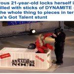 صدمة في برنامج مواهب أمريكا.. شاهد: فتاة تفجر نفسها داخل تابوت مليء بالديناميت!