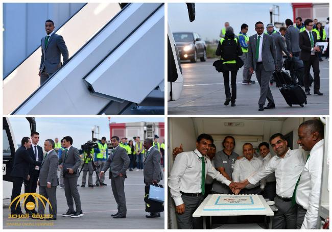 شاهد .. الصور الأولى لبعثة المنتخب السعودي فور وصولها إلى روسيا للمشاركة بالمونديال