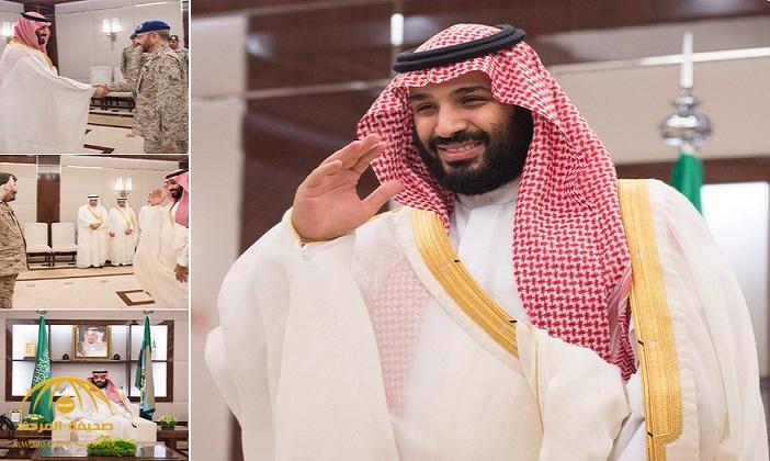 ولي العهد يستقبل كبار القادة والمسؤولين في وزارة الدفاع بمناسبة عيد الفطر – فيديو صور