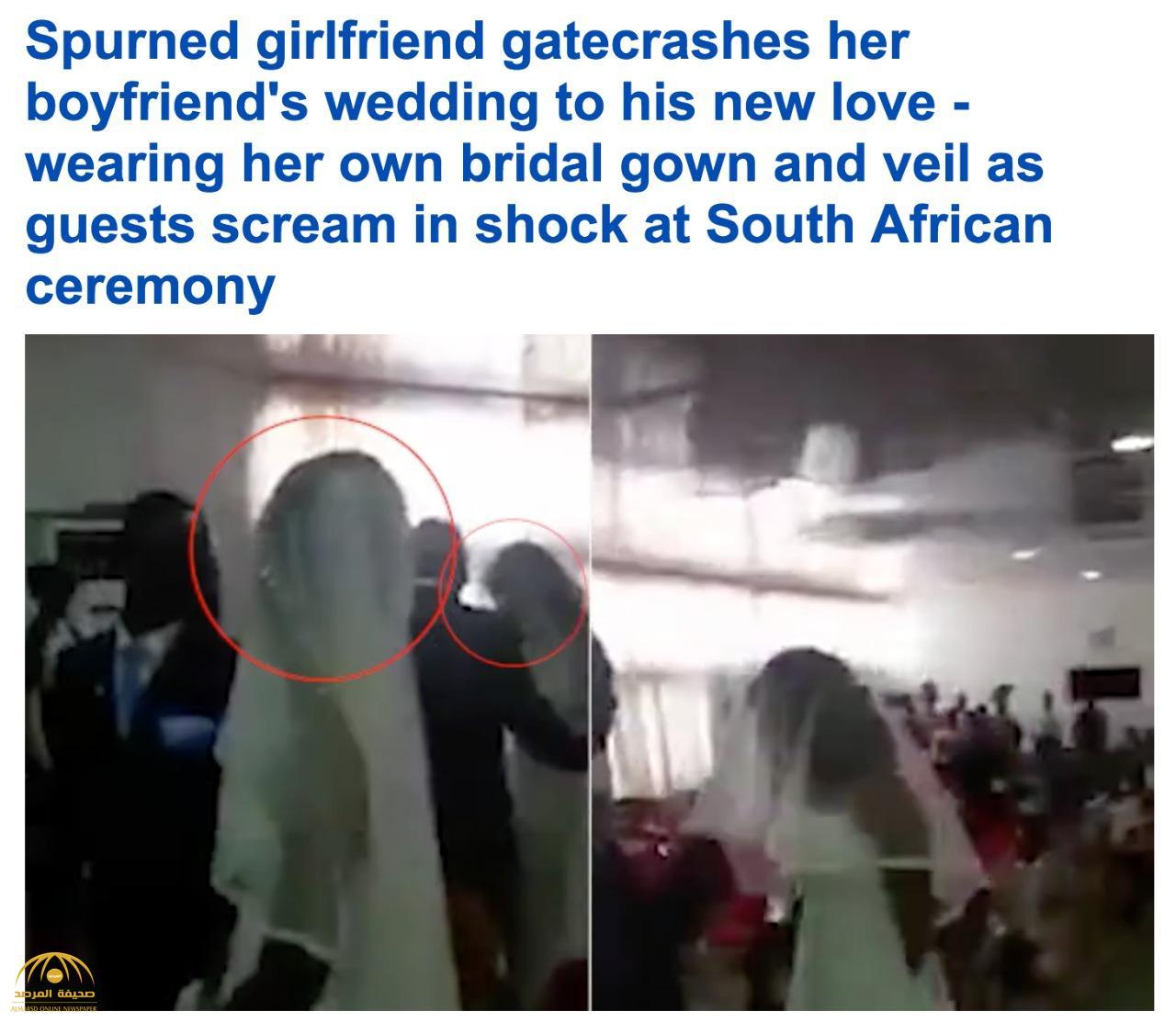 """موقف صادم .. شاهد كيف فاجأت امرأة """"عشيقها"""" أثناء حفل زواجه بأخرى!"""