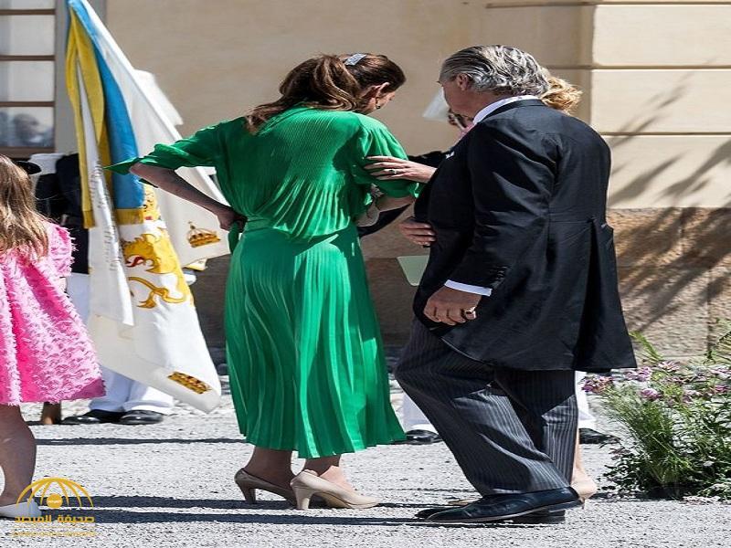 """بالصور.. """"درع بشري"""" لحماية أميرة سويدية من موقف محرج للغاية.. الكاميرات أسرعت لرصده"""