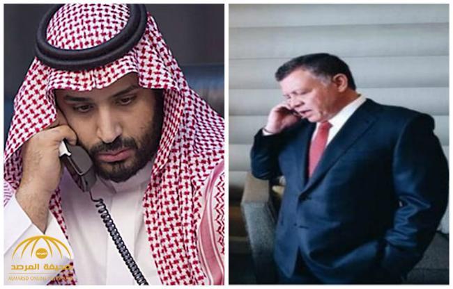"""ولي العهد """"محمد بن سلمان"""" يجري إتصالاً هاتفياً بملك الأردن"""