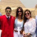 بالصور .. هكذا احتفلت أسرة مبارك بتخرج حفيده