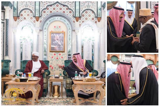 بالصور : خادم الحرمين يستقبل رؤساء القمر المتحدة والسودان والجابون ووزير الخارجية الإماراتي