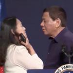 الرئيس الفلبيني يطلب قبلة على الشفاه من فتاة في بث مباشر على الهواء!