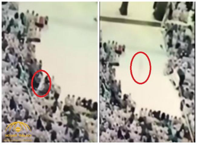 """بالفيديو : كشف حقيقة ظهور """"جني"""" في الحرم المكي واختراقه صفوف المصلين!"""