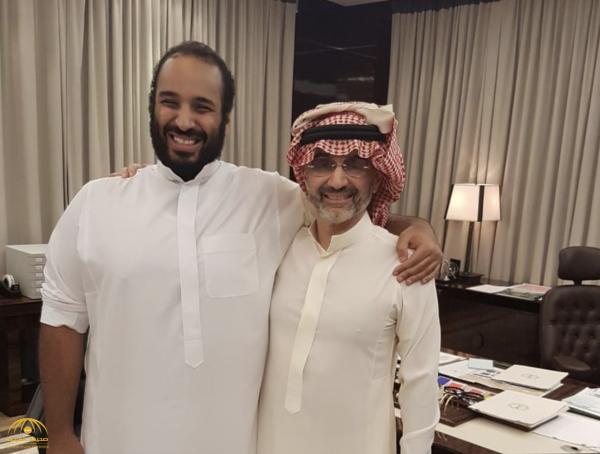الوليد بن طلال يلتقي بولي العهد محمد بن سلمان-صورة