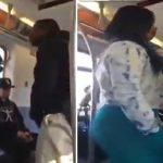 بالفيديو .. شاهد كيف تغلبت امرأة على رجل تشاجر معها داخل مترو
