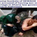 بالفيديو .. شاهد كيف تم معاقبة متهمين بالزنا في مدينة لانغسا بإندونيسيا