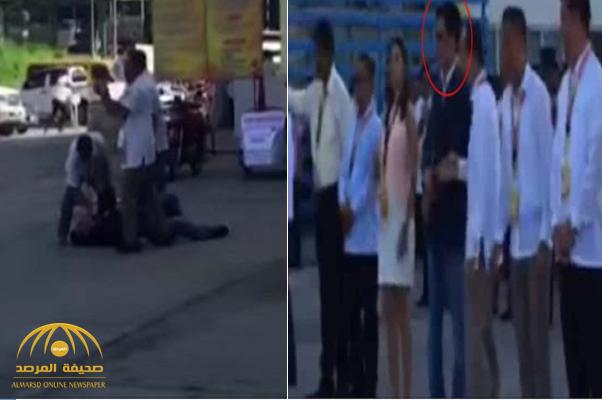 شاهد: لحظة اغتيال مسؤول كبير في الفلبين وهو يلقي خطاب في حفل رسمي أمام الناس!