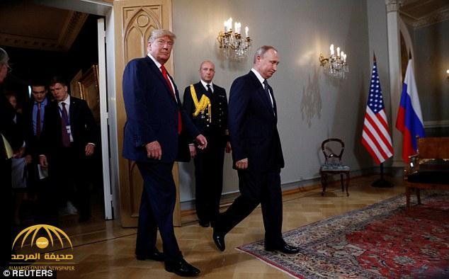 """شاهد .. لقطات من لقاء الرئيس الأمريكي بنظيره الروسي في """"هلسكني"""""""