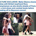 """ابنة الرئيس الأمريكي السابق """"أوباما"""" تشاطر صديقها """"قُبلة"""" في شوارع باريس-صور"""