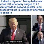 """ترامب يصف زيادة معدل النمو الأمريكي بـ""""المعجزة"""""""