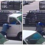 شاهد أفارقة يسرقون محتويات سيارة في وضح النهار بجدة!