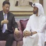 شاهد.. الرئيس الصيني في منزل ولي عهد أبو ظبي برفقة أولاده وأحفاده!