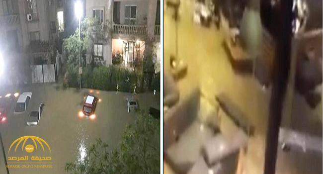 مصر.. المياه تبتلع مطعما مع زبائنه! – فيديو