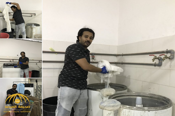 شاهد..  بالصور: شاب سعودي يعمل في مغسلة ملابس ويدعو الشباب إلى أن يحذوا حذوه ولا ينتظرون الوظائف!