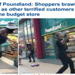 شاهد .. مشاجرة عنيفة وضرب بالسلال المعدنية أمام متجر في لندن
